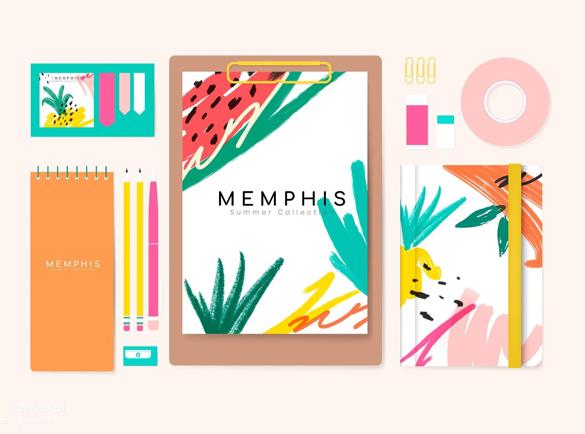 Memphis Design | De Laatste Trends in Bedrukte Kantoorartikelen