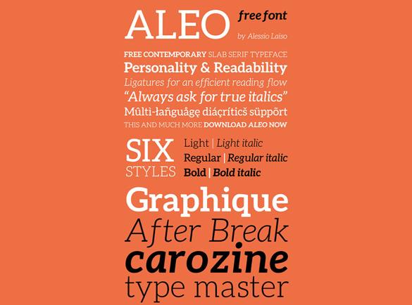 Aleo | De Beste Fonts om te Gebruiken voor Posters