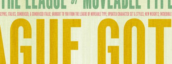 League Gothic | De Beste Fonts om te Gebruiken voor Posters